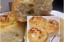 Cách làm bánh mì cuộn hành phô mai thơm ngon nóng hổi cho bữa sáng đầu tuần