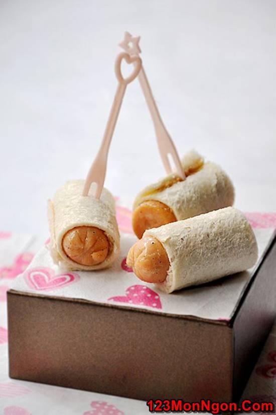 Cách làm bánh mì cuộn xúc xích đơn giản thơm ngon hấp dẫn cho bữa ăn nhẹ phần 7