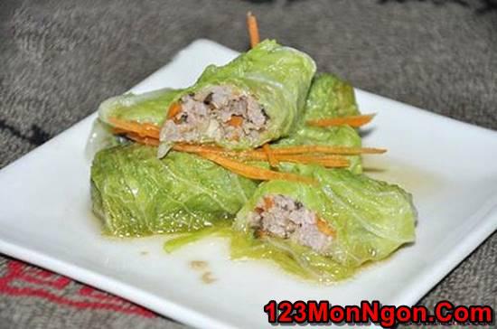 Cách làm món bắp cải cuốn thịt đơn giản mà thơm ngon bổ dưỡng cho thực đơn hằng ngày phần 1