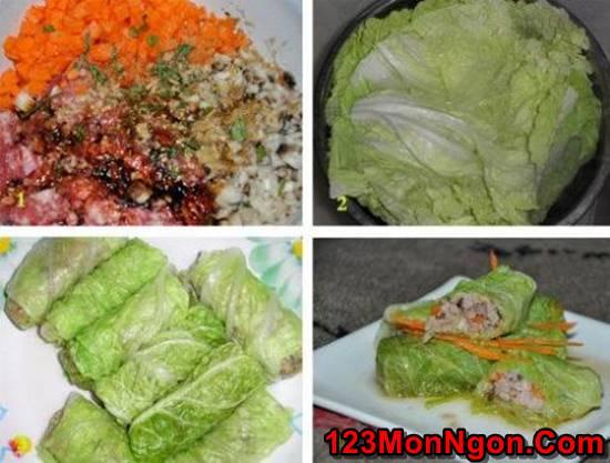 Cách làm món bắp cải cuốn thịt đơn giản mà thơm ngon bổ dưỡng cho thực đơn hằng ngày phần 2