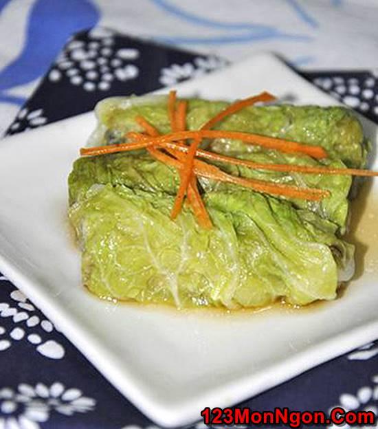 Cách làm món bắp cải cuốn thịt đơn giản mà thơm ngon bổ dưỡng cho thực đơn hằng ngày phần 3
