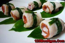 Cách làm món cá cuộn hấp trà xanh thơm ngon bổ dưỡng chiêu đã cả nhà ngày mát trời
