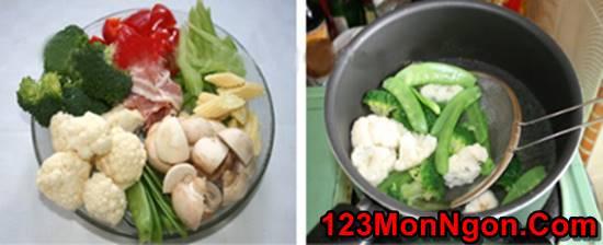 Cách làm món rau xào thập cẩm đẹp mắt thơm ngon đủ chất cho bữa cơm tối đơn giản của gia đình phần 2
