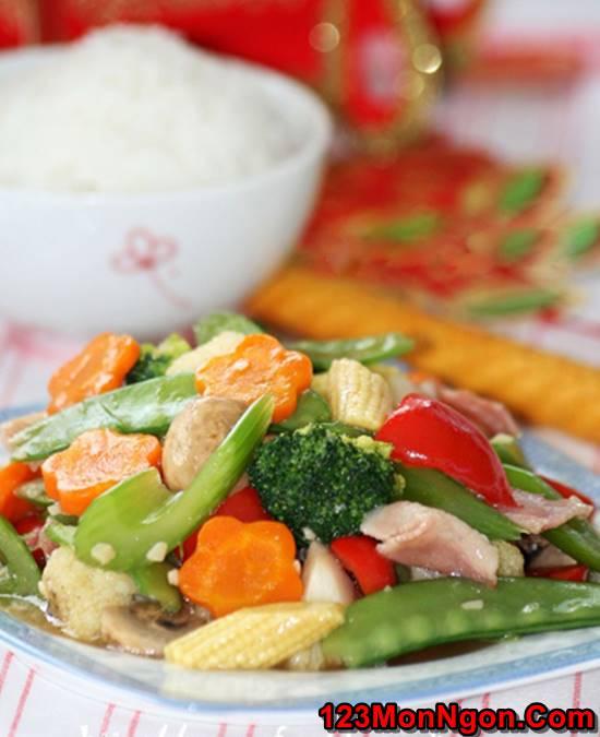 Cách làm món rau xào thập cẩm đẹp mắt thơm ngon đủ chất cho bữa cơm tối đơn giản của gia đình phần 6