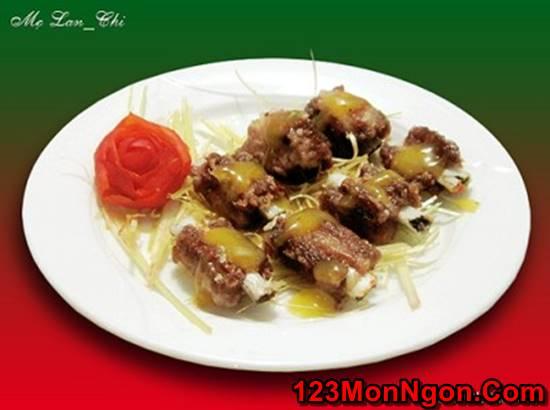 Cách làm món sườn rán sốt chanh leo chua ngọt thơm ngon cho bữa cơm ngày mát trời phần 1
