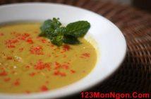 Cách làm món súp bí đỏ cá hồi trứng cua thơm ngon bổ dưỡng cực đơn giản dành cho các bé