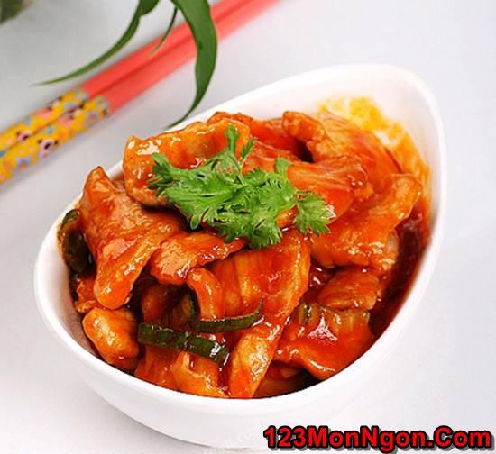 Cách làm món thịt lợn xào chua ngọt đậm đà thơm ngon đổi vị cho cả nhà ngày cuối tuần phần 5