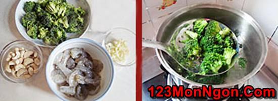 Cách làm món tôm xào bông cải xanh hạt điều thơm ngon bổ dưỡng phần 2