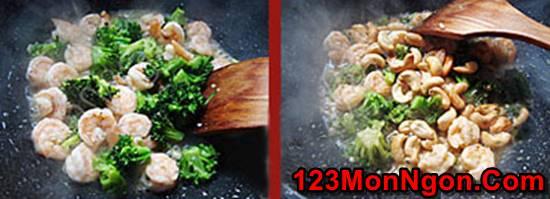 Cách làm món tôm xào bông cải xanh hạt điều thơm ngon bổ dưỡng phần 4