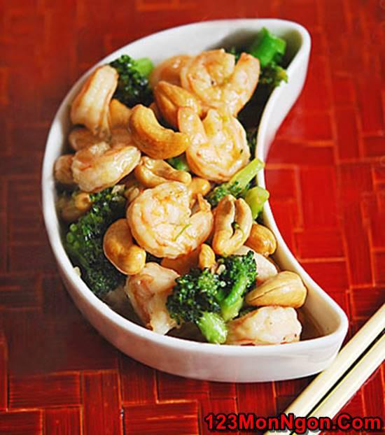 Cách làm món tôm xào bông cải xanh hạt điều thơm ngon bổ dưỡng phần 5
