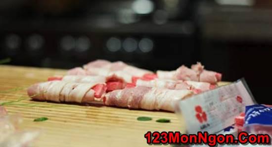 Cách làm thịt ba chỉ cuộn thanh cua đơn giản thơm lừng thật ngon cho bữa trưa phần 1