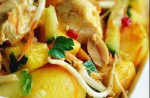 Cách làm thịt gà trộn chua ngọt theo kiểu Indonesia thơm ngon hấp dẫn rất đơn giản