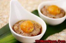 Cách làm thịt hấp lòng đỏ trứng muối thơm ngon nóng hổi đổi món cho ngày cuối tuần