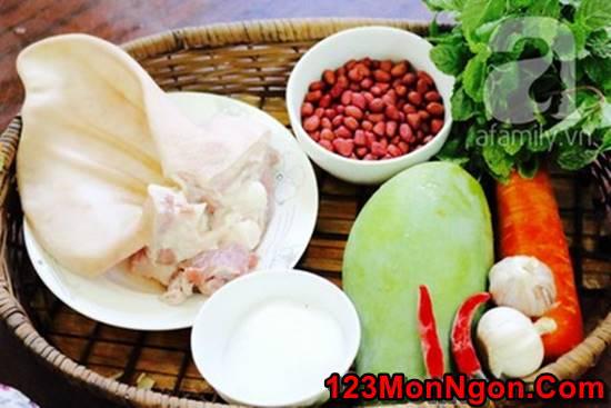 Cách làm các món gỏi xoài tôm thịt tai heo bò khô giòn ngon chua ngọt cực đơn giản hấp dẫn phần 4