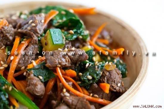 Cách làm món bò xào rau củ kiểu Hàn Quốc ngon lạ thật hấp dẫn đổi vị cho cả nhà phần 1