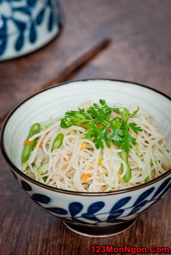 Cách làm món bún gạo xào chay đơn giản thanh đạm rất ngon cho cả nhà thưởng thức phần 1