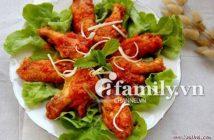 Cách làm món cánh gà chiên giòn sốt cà chua đậm đà thơm ngon cho cả nhà thưởng thức
