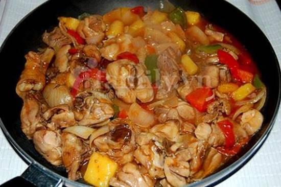 Cách làm món gà xào chua ngọt thơm ngon hấp dẫn ăn là ghiền đãi cả nhà ngày cuối tuần phần 6