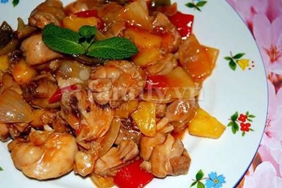 Cách làm món gà xào chua ngọt thơm ngon hấp dẫn ăn là ghiền đãi cả nhà ngày cuối tuần phần 8