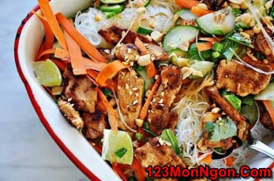 Cách làm món nộm miến gà kiểu Thái đơn giản mà thơm ngon chua ngọt rất dễ ăn phần 6