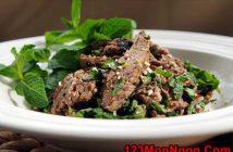 Cách làm món salad bò nướng chua cay thơm ngon đổi vị cho ngày cuối tuần