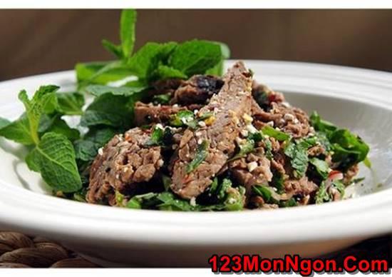Cách làm món salad bò nướng chua cay thơm ngon đổi vị cho ngày cuối tuần phần 4
