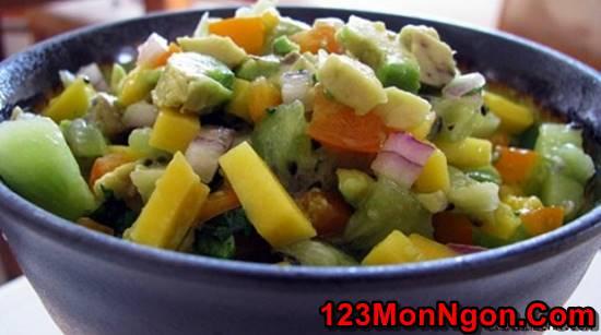 Cách làm món Salad xoài wiki chua ngọt thơm ngon cho thực đơn hằng ngày thêm phong phú phần 1