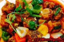 Cách làm món sườn xào chua ngọt kiểu Tàu thơm ngon đậm vị ăn là ghiền