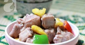 Cách làm món sườn xào chua ngọt với dứa đậm đà thơm ngon cho bữa cơm ngày lạnh
