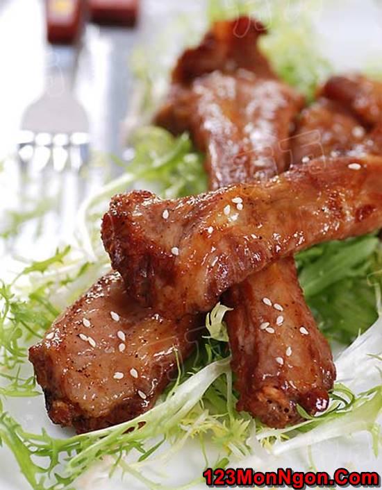 Cách làm sườn lợn nướng tiêu mật ong thơm lừng cực ngon miệng cho bữa tiệc cuối tuần phần 1