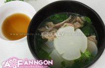 Cách nấu canh củ cải hầm xương ngọt mát thơm ngon cho bữa cơm ấm cúng ngày đông