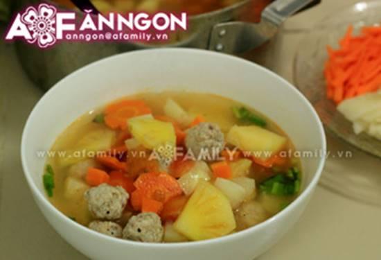 Cách nấu canh thịt viên chua ngọt thanh mát thơm ngon cho bữa cơm ngày hè oi ả phần 10
