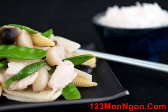 Công thức làm món thịt gà xào rau củ bắt mắt thơm ngon hấp dẫn cho bữa cơm hằng ngày phần 2
