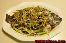 Cách làm cá rô phi hấp hành gừng ngon ngọt ấm nồng cực hấp dẫn cho bữa cơm Tết