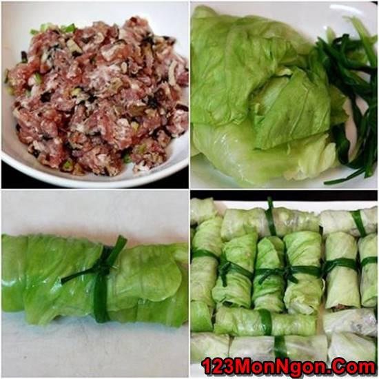 Cách làm món bắp cải cuộn thịt rán thơm ngon thanh mát không ngán phần 2
