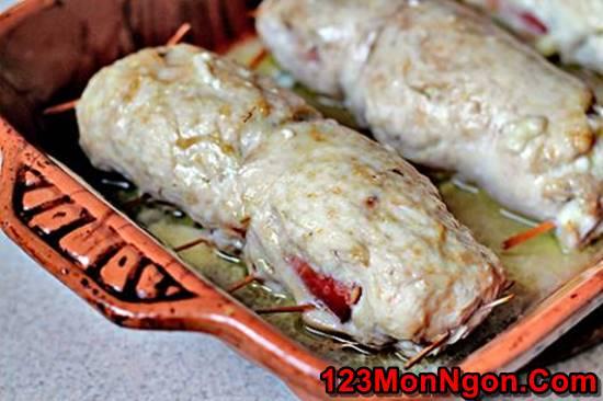 Cách làm món chả gà cuốn nóng hổi thơm ngon hấp dẫn ngày đông phần 15