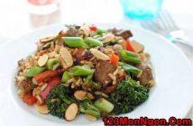Cách làm món cơm thịt bò bông cải xanh kiểu Tàu mới lạ thơm ngon bổ dưỡng