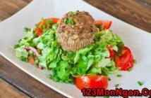 Cách làm món salad thịt nấm mới lạ rất thơm ngon hấp dẫn ăn là ghiền