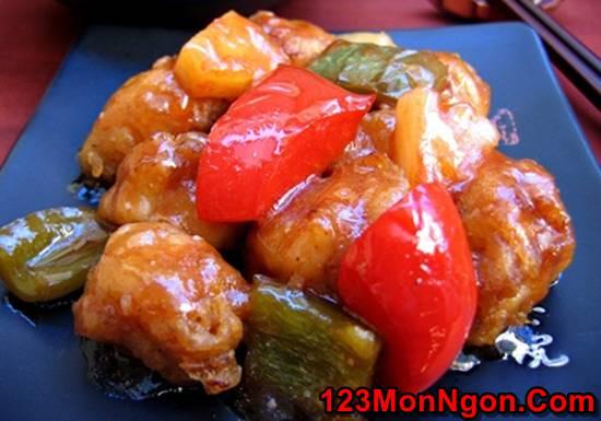 Cách làm món thịt lợn sốt chua ngọt ngon tuyệt vời cho ngày Tết sum vầy phần 9