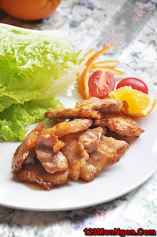 Cách làm món thịt rán cháy cạnh gói rau kiểu Hàn Quốc thơm lừng hấp dẫn cực ngon miệng phần 1