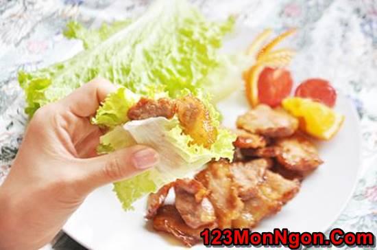 Cách làm món thịt rán cháy cạnh gói rau kiểu Hàn Quốc thơm lừng hấp dẫn cực ngon miệng phần 9