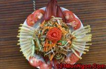 Cách làm nộm hoa chuối man mát chua cay cực ngon miệng đổi vị cho cả nhà