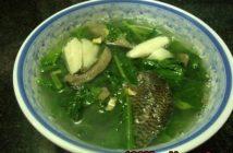 Cách làm rau cải nấu cá rô đồng thơm ngọt nóng hổi cực ngon cho bữa cơm ngày lạnh