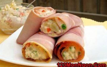 Cách làm thịt lợn muối cuốn Salad kiểu Nga thơm ngon béo ngậy cực hấp dẫn