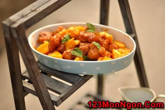 Cách làm cánh gà chiên giòn sốt dứa chua ngọt thật ngon ăn hoài không ngán phần 17
