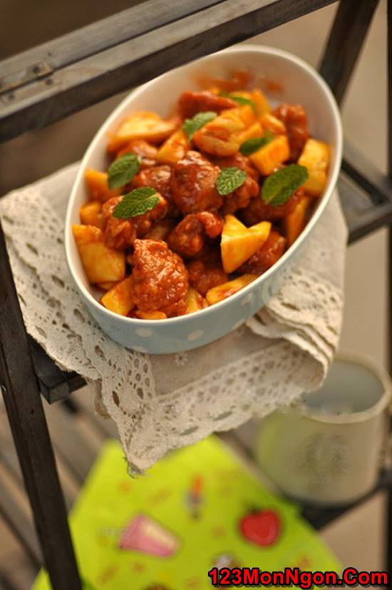 Cách làm cánh gà chiên giòn sốt dứa chua ngọt thật ngon ăn hoài không ngán phần 18