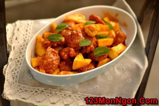 Cách làm cánh gà chiên giòn sốt dứa chua ngọt thật ngon ăn hoài không ngán phần 20
