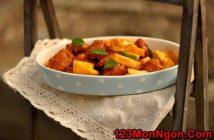 Cách làm cánh gà chiên giòn sốt dứa chua ngọt thật ngon ăn hoài không ngán
