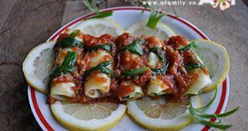 Cách làm món bắp cải cuộn thịt sốt cà chua ngon miệng đưa cơm
