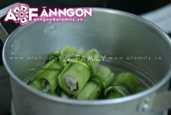 Cách làm món bí xanh cuộn thịt hấp đơn giản mà thơm ngon hấp dẫn phần 5